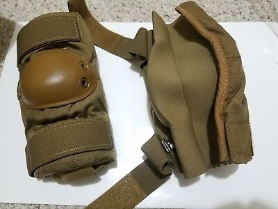 Military Grade Bijan Coyote Brown Elbow Pad Set Size LARGE Tactical Army U.S.