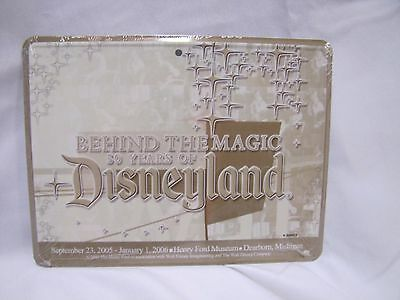 Disneyland Behind the Magic 50th Anniversary Henry Ford Museum Metal Plate Khaki