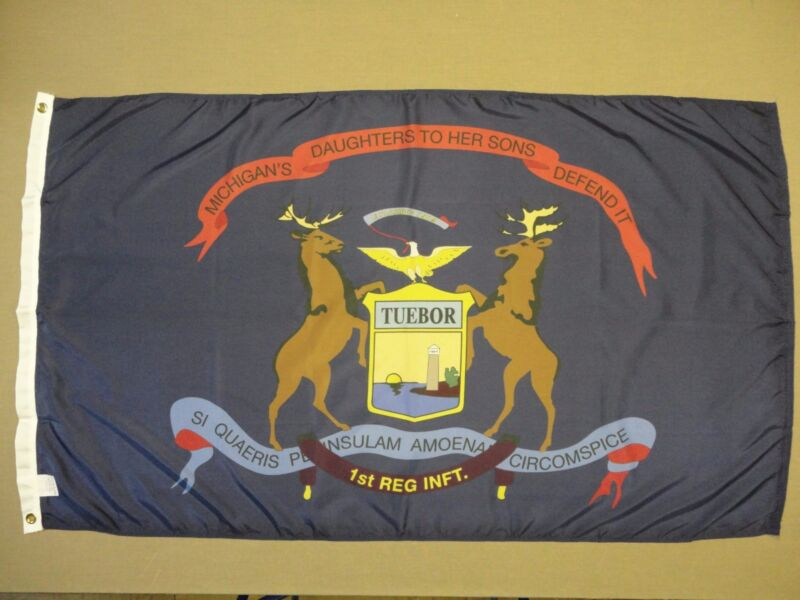 1st Michigan Infantry Regiment Historical Indoor Outdoor Dyed Nylon Flag 3
