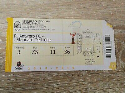 Ticket : Antwerp - Standard 25.01.2019
