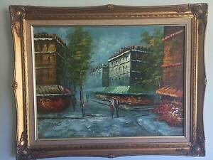 Paris Street Scene - by L. Stanid - Framed Original Oil Painting Coolangatta Gold Coast South Preview