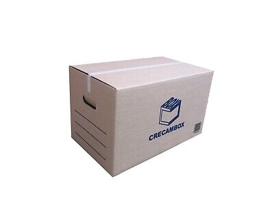 Pack 10 Cajas de Cartón Mudanza Medianas con Asas Ultraresistentes 500x300x300mm
