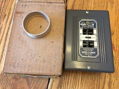 Square D Multi Breaker Box No. 181111-s Solid Mains 50 Amp Max In Box Usa