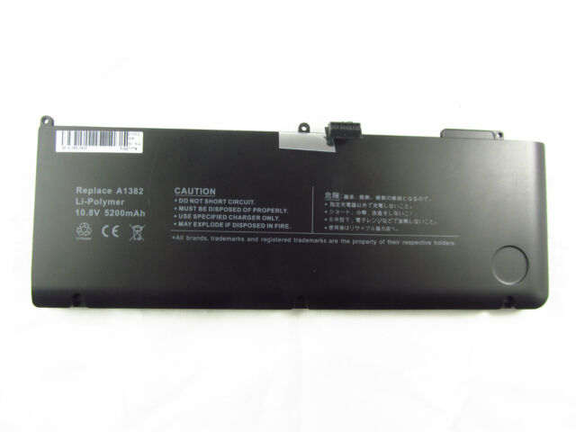 Replacement Battery For Apple MacBook Pro 15'' Unibody A1382 A1286 2010 2011 AU