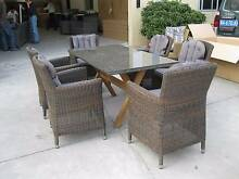 P.E Wicker outdoor Dining chairs with granite top table Brand New Hoppers Crossing Wyndham Area Preview