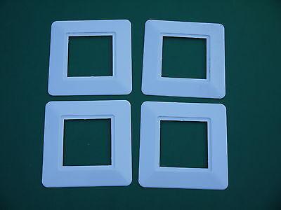 4 original DDR Tapetenschoner weiß eckig Tapetenschutz Wandschutz Schalter