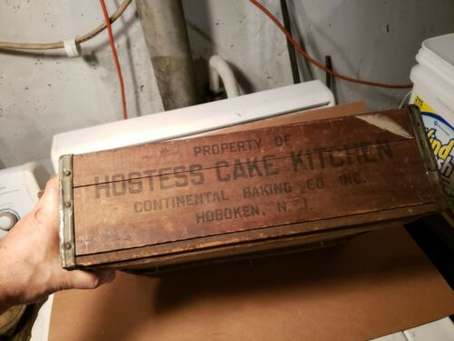 Antique Hostess Cake Wood Shipping,Delivery Crate box Hoboken N.J.