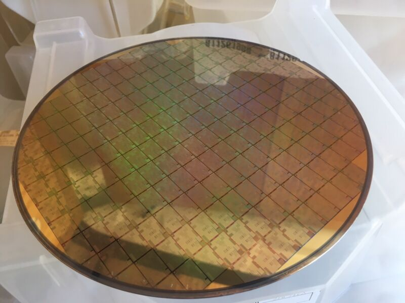 "Performance Semiconductor PR3400 CPU 6/"" Silicon wafer DECSTATION 5000"