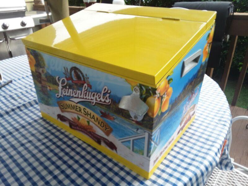 "Rare Leinenkugel's store display beer Cooler = "" summer Shandy"" all metal"