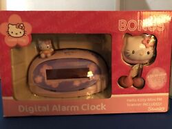 Hello Kitty Digital Alarm Clock  Electric  Battery Backup Pink KT3005T OPEN BOX!
