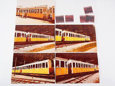 """5 Fotos 13x18 mit Negativen - Wendelsteinbahn 1981 """"Xad02"""