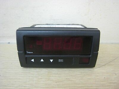 Simpson H335184200 0-200k Ohm 0-10vdc 120vac 3-12 Digit Digital Panel Meter