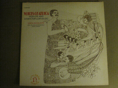 SAKA ACQUAYE VOICES OF AFRICA HIGH-LIFE OTHER POPULAR MUSIC LP NONESUCH H-72026 - Other Popular Music