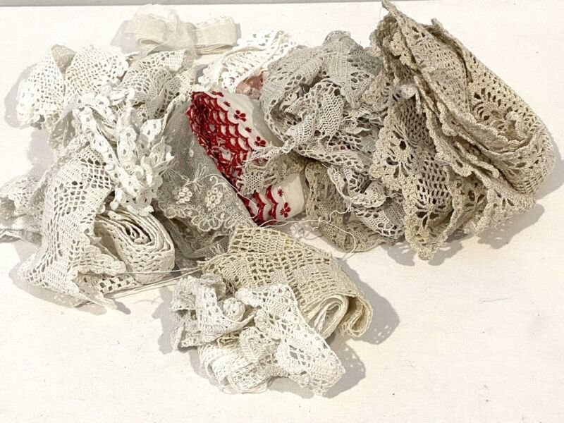 Lot of Antique Laces and Trim
