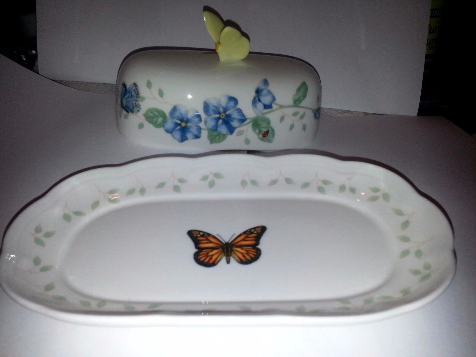 Купить LENOX - Lenox Butterfly Meadow OBLONG Covered Butter Dish NEW IN BOX with TAGS!