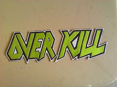 OVERKILL,SEW ON GREEN EMBROIDERED LARGE BACK PATCH