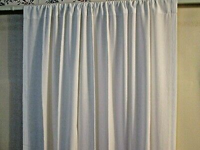 White Threshold Rod Pocket Curtain Panel  54