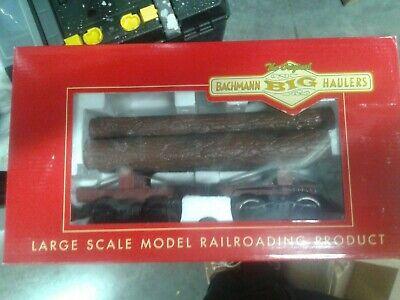 "Bachmann ""G"" Skeleton Log Car with Logs & Metal Wheels NIB G Scale"