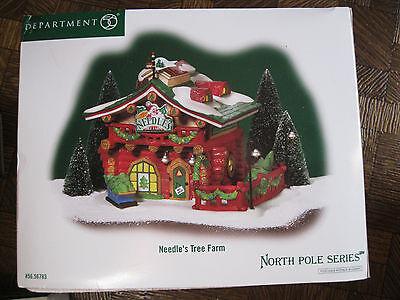 Dept. 56 Needle's Tree Farm  North Pole Village D56 -56783 --NIB