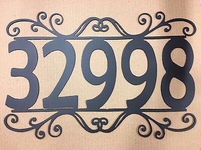 House Number Plaque, Metal Sign, Home Decor, Address #5, Mailbox ()
