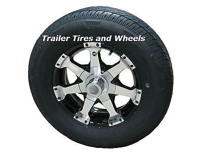 Rainier ST175/80R13 LRC Radial Trailer Tire & Aluminum Wheel Series 06 Black