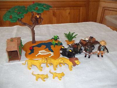 Playmobil Safari 4834 Wilderer mit Quad, Wasserstelle und Tierfalle