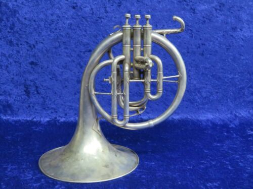 Vintage Frank Holton Silver F? Mellophone Ser#49964 Non Playing Condition