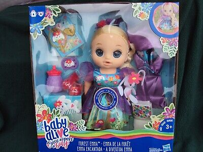 New Baby Alive Once Upon a Baby - Forest Emma Doll , Blonde Hair , Blue Eyes ,   segunda mano  Embacar hacia Argentina