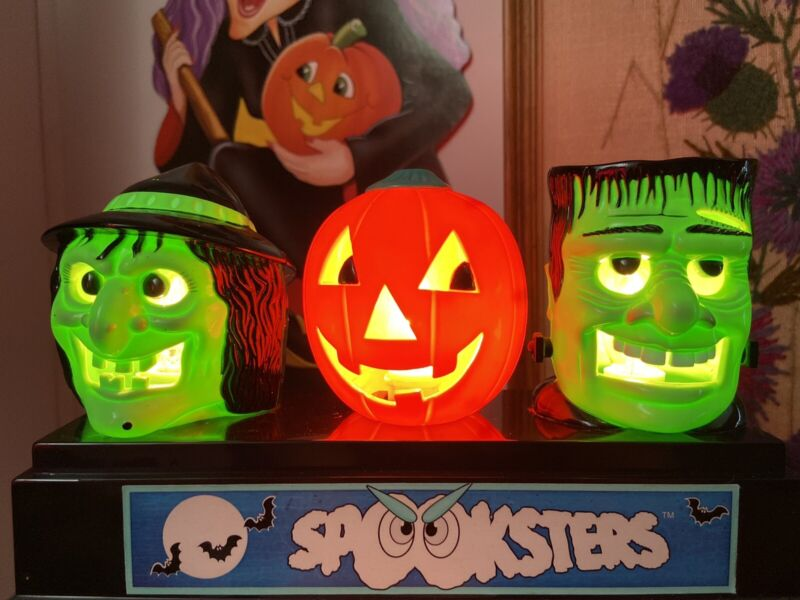 Vintage HTF 1996 Hilco Halloween Spooksters Electric Blinking Lite-Up Decoration