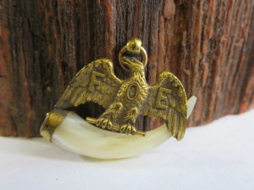 Antique FOE Fraternal Order Of Eagles Claw Eagle Fob Pendant Watch Fob PW1