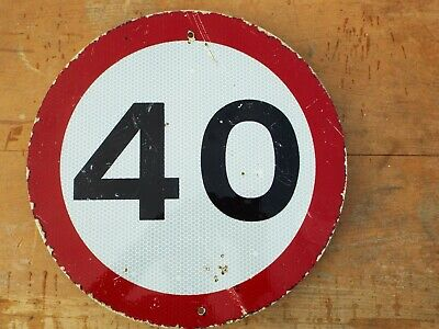 Genuine Retired 40  th Birthday Sign old  roadsign  Man Cave.Can Be Written On
