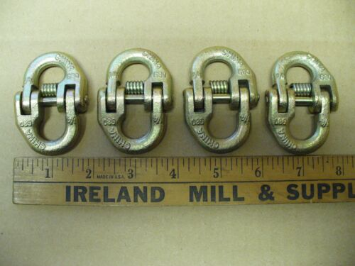 """4 New 1/4"""" G80 Coupling Link Hammerlock Chain and Hook Connector Works with 5/16"""