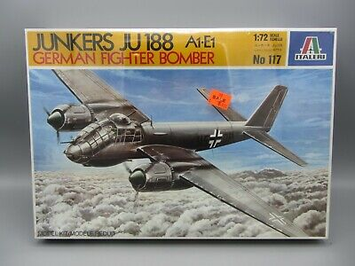 Vintage NOS Italeri 1:72 Junkers Ju.188 A1-E1 German Fighter Bomber / Sealed 117 for sale  Colby