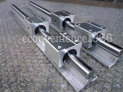 2 Set Sbr20-1000mm 20 Mm Fully Supported Linear Rail Shaft Rod With 4 Sbr20uu