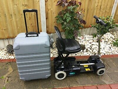 CareCo Scootcase Folding Portable Travel Mobility Scooter In Blue + Travel Case