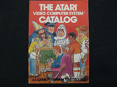 Atari Video Computer System Catalog 45 Game Program Cartridges 1981