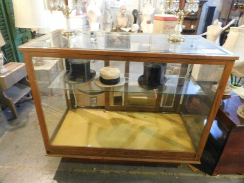 antique oak country store showcase
