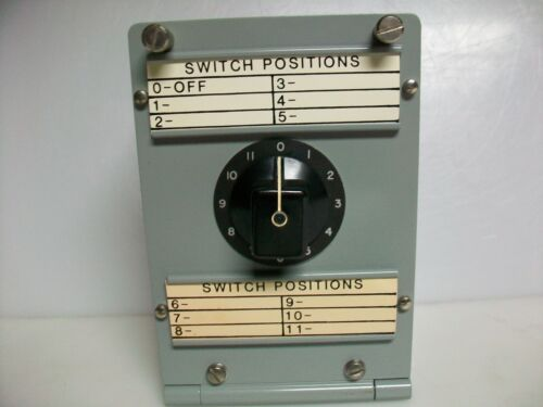 TABET MFG. CO.   12 POSITION 2 POLE - SELECTOR SWITCH BOX