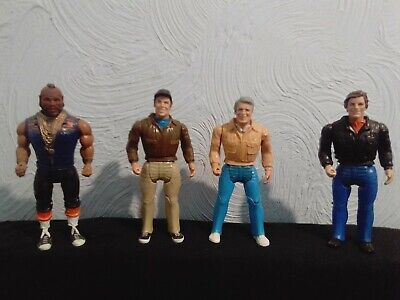 """1983 The A-Team Vintage 6"""" Action Figures with lots of Weapons and tools Rare!!!"""