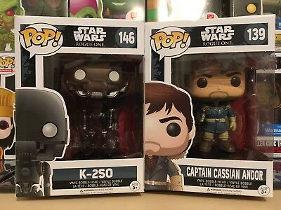 Funko Pop Star Wars Rogue One 2 Pack  K 2So   Cassian Andor