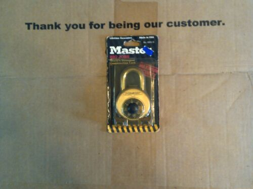 1 Package of Master Lock Big Jobs part # 2001-D Combination lock