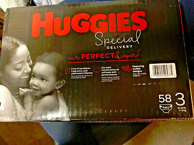 Huggies Special Delivery Hypoallergenic Diapers, Size 3 (16-28 lb.), 58 Ct,