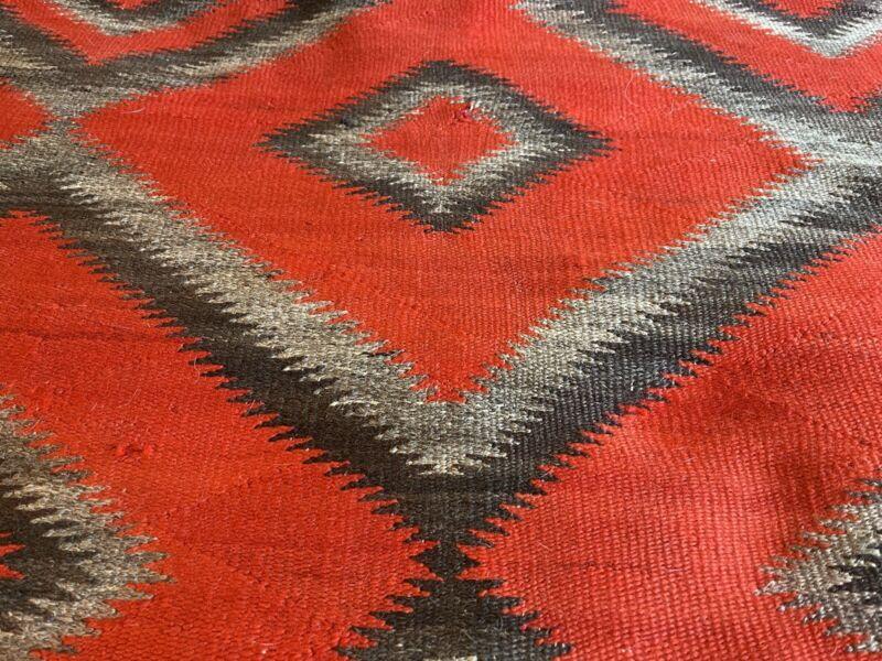 1890's Vintage Native American Navajo Rug