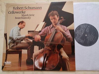SCHUMANN Cellowerke MAREK JERIE/IWAN KLÁNSKY *RARE SWISS EX LIBRIS VINYL*NM*