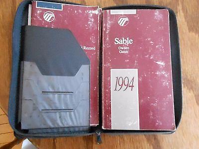94 Sable Owners Operators Manual