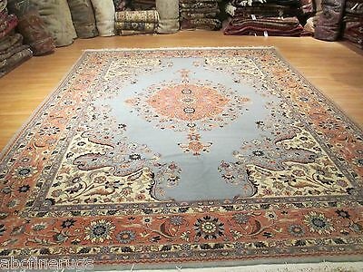 10x14 PERSIAN Museum Tabriz Pastel Medallion Handmade-knotted Wool Rug 580284