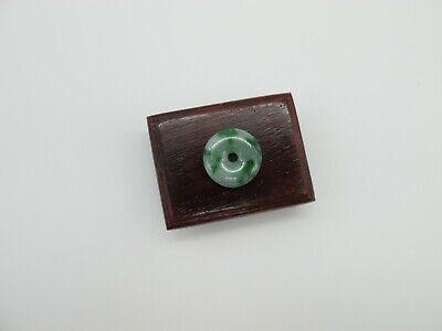 100% Natural Type A Icy Green Jadeite Jade donut pendant C00499N