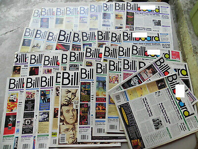 1992  BILLBOARD Magazine Lot of 39 Weeks you get 39 Magazines all have label