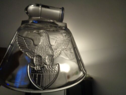 RARE EAPG US Glass Co.BULLET EMBLEM Non-Flint CLEAR COVERED BUTTER DISH 1898