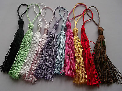 10-100 Silky 13.5cm Tassels for Cardmaking Bookmarks Costume -Buy2Get 3rd 50%OFF